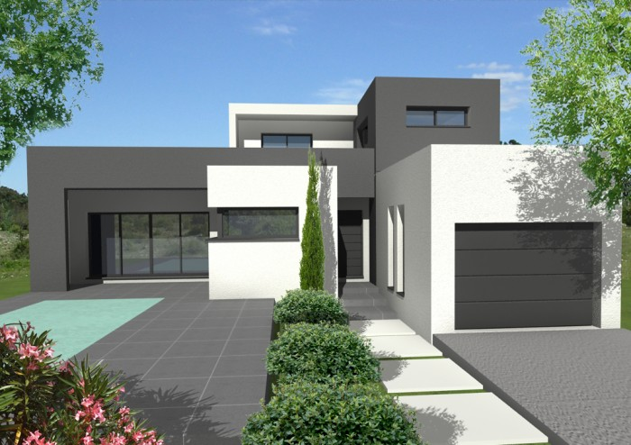 construction villa contemporaine