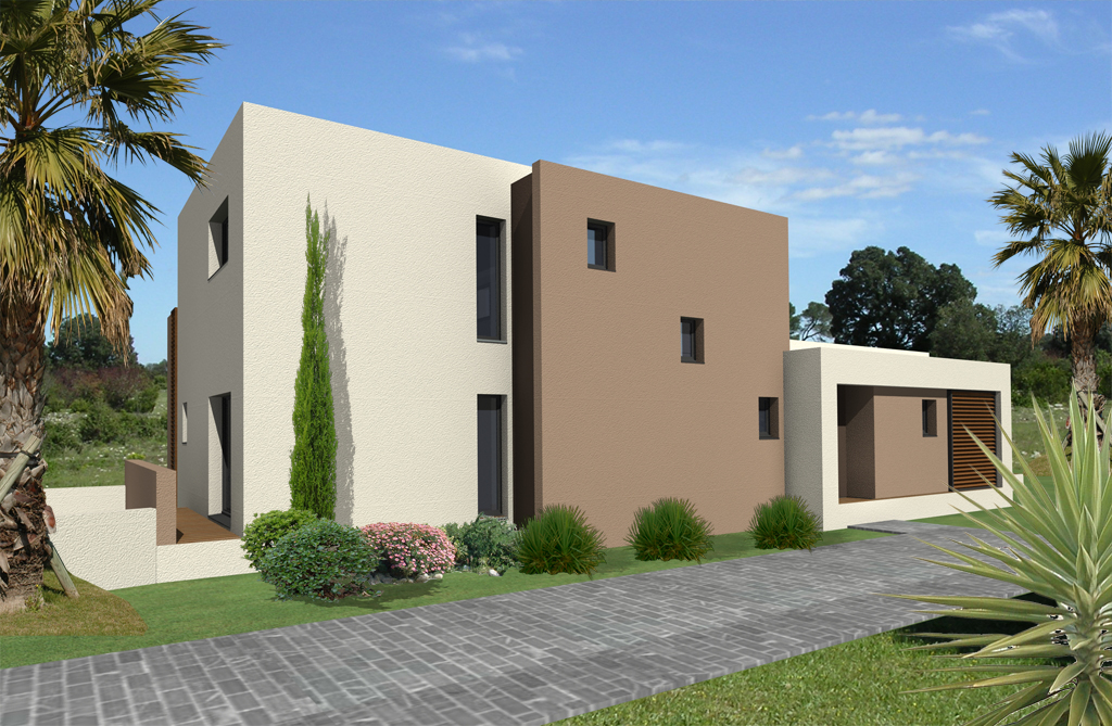 Construction maison contemporaine perpignan 66 for Architecture contemporaine maison individuelle